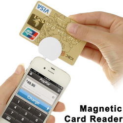 3.5mm Jack Mini Magnetic Mobile ic Credit Card Reader Adapter Works for Apple Samsung HTC and Android iOS Smart phone(China (Mainland))