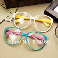 High Quality Unisex Candy Color Round Lover Frames Fashion Spectacles Eyewear Accessories include glass len