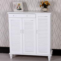 Solid wood furniture rustic furniture brief shutter door shoe shoes kitchen cabinet shoe cabinet