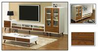 Solid wood furniture fashion table coffee table modern fashion storage cabinet tv cabinet combination white