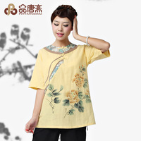 Original design fluid national trend women's tang suit top vintage hanfu women's top