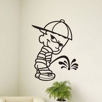 Personalized decoration bathroom tile wall stickers mural sliding door glass stickers waterproof toilet stickers -child