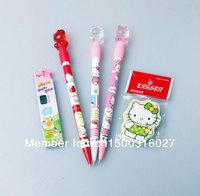 Hello Kitty design cute propelling pencil*3+pencil lead+ Kitty's eraser