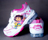 Female child shoes dora rose pink small child with light flasher shoes casual shoes(China (Mainland))