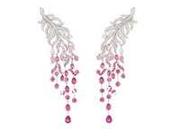 Free postage 925 silver jewelry earrings classic brand  Dense ruby Earring  Palmolive Ye Erhuan