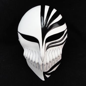 Ichigo Kurosaki cartoon theme of masquerade mask death mask blur the mask black