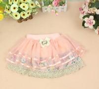 Fashion hot sale 2013 new baby TuTu skirts girls lace flower skirts kids summer cotton flower skirts sweet girl wholesale 4 PCS