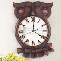free shipping personalized owl wall clock mute clock wall clock