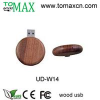 Free shipping  free custom logo round  wood usb flash disk 50pcs/lot  1G,2G,4G,8G,16G promotion gift usb full memory pen drive