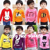 2014 new kids clothes 1~10 Age boys girls t shirt Multicolor optional  Children clothing  t shirts free ship  children's t-shirt