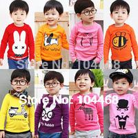 2014 new kids clothes 1~10 Age boys girls t shirt Multicolor optional  Children clothing  t shirts free ship  children's t-shirt