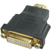 HDMI Male to DVI-I 24+5 Female Video Adapter Converter Connector Black