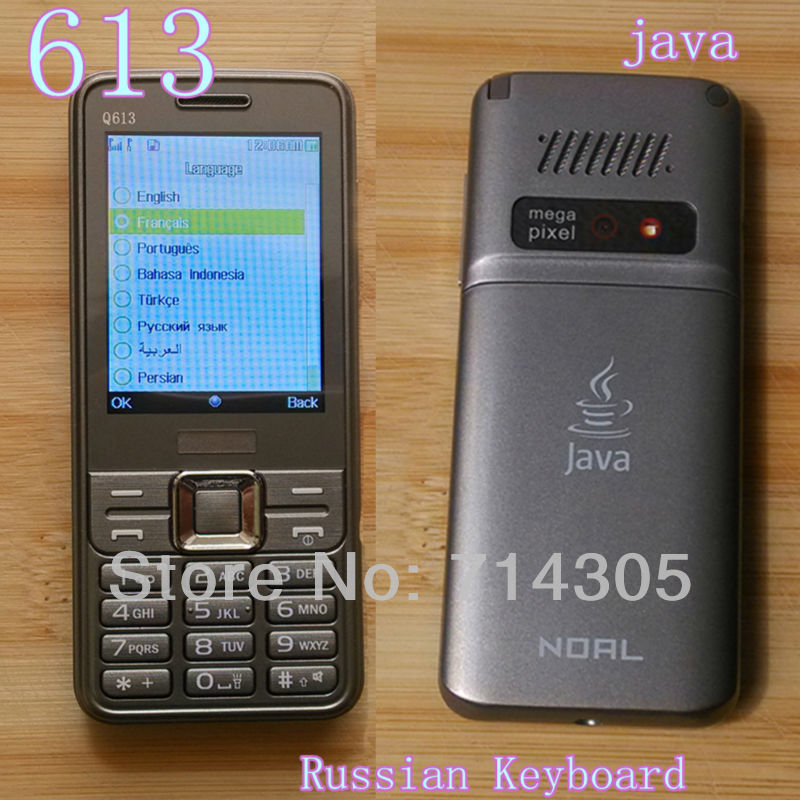 Free shipping New Unlocked Cell Phone Q613 with JAVA TV 2.4 QVGA screen Dual SIM With Russian Keyboard(China (Mainland))
