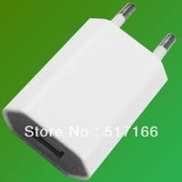 20pcs/lot white EU Plug AC to USB Power Adapter Charger For Apple iPhone 4 4S 4G