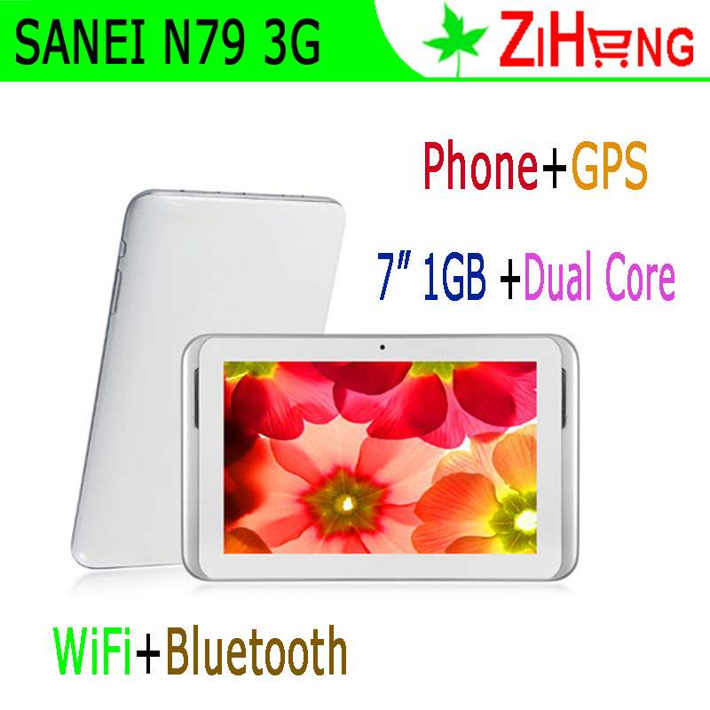 "Free Shipping! 7"" Built-in 3G Tablet PC Phone call 7 inch SANEI N79 GSM WCDMA Tablet smart phone Dual Core GPS WiFi Famous Brand(China (Mainland))"
