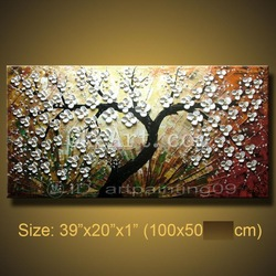 Handmade Abstract Oil Painting On Canvas Floral POP Knife Art Home Decor Canvas Art Home Decor Wall Art Free Shipping(China (Mainland))