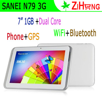 "Popular 7"" 2G 3G Tablets PC Smart Phone Name Brand SANEI N79 Dual Core GPS has GPS WiFi Bluetooth 3G sim card slot!"