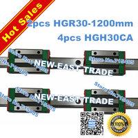 100% genuine original HIWIN BRAND Linear Guide1lot  2pcs HGR30 1200mm rail with 4pcs HGH30CA carriage