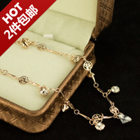 Hot-selling popular zircon rose gold large sparkling diamond fu word love bracelet girls fashion