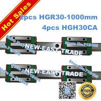 100% genuine original HIWIN BRAND Linear Guide1lot  2pcs HGR30 1000mm rail with 4pcs HGH30CA carriage