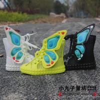 2014 gauze breathable children butterfly wings casual skateboarding shoes sport sandals girl love kids sneakers