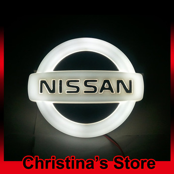 New Arrival 3D EL car logo decorative lights For NISSAN Series car badge LED lamp Auto emblem light Free shipping