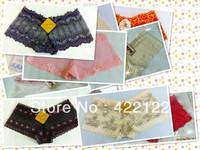 women cotton lace many color size sexy underwear/ladies panties/lingerie/bikini underwear pants/ thong/g-string DZ025-24pcs