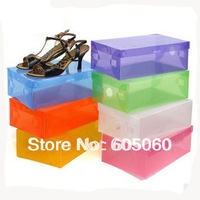 plastic transparent shoebox thickening crystal shoes box shoes storage box free shipping