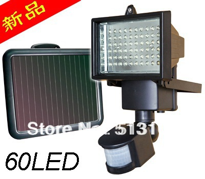 New design solar flood light with infrared sensor 60 pcs led 1.2w solar panel solar gerden light or solar lawen light(China (Mainland))