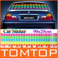 90x25cm Sound Music Activated EL Sheet Car Stickers Equalizer Glow Flash Panel led Multi Color Decorative Light car Accessories