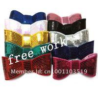 5''  sequin bows , baby hair bows,30pcs/lot, mixed 10color, free shipping