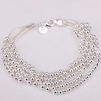 Free shipping wholesale small beads,woman bracelets fashion jewelry 2013 925 sterling silver