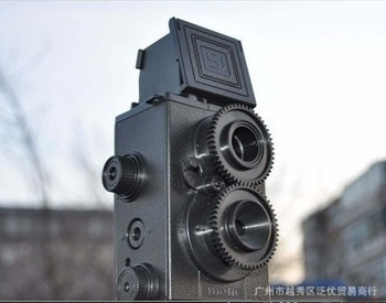 Free shipping 2pcs/Lot DIY Adoult LOMO Camera Science Vo1.25 Twin Lens Reflex TLR Camera Holga Recesky gift