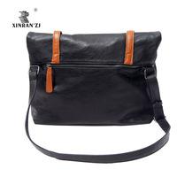 free shipping High quality vintage bag leather envelope bag messenger bag lovers design messenger bag