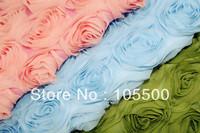 Free ShoppingPolyester Chiffon Embroidery Fabric