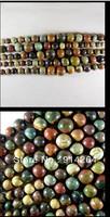 stunning natural picasso jasper gemstone loose beads one strand k3758