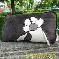 NICI boy penguin gray pillow square stuffed plush cushion