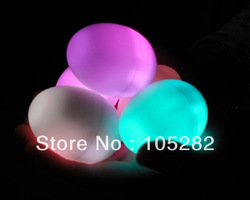 wholesale free shipping children ' toy egg Changing LED Candle Night Light 10pcs Multi-Color7 flash light Lamp Xmas party gift(China (Mainland))
