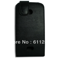 Free Shipping, Flip Leather Case For Nokia Lumia 510 Black