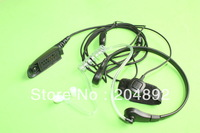 Throat Finger PTT  Earpiece Mic Headset for Motorola GP328 GP338