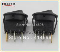 180Pcs FL3-18 ON OFF  Blue 220V neon lamp 10A/125V Rocker Switch Free Shipping  Cost