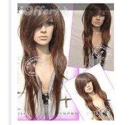 England style BROWN BRUNETTE HAIR WAVY FASHION WIG LONG Amazing fashion