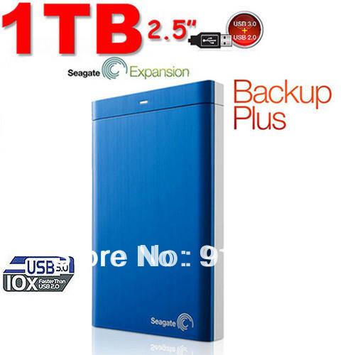 Seagate Backup Plus USB 3.0 PC & Mac External Hard Drive 1TB ...