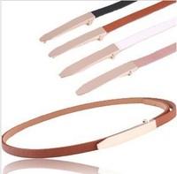 Min.order $10(Mix order)Free shipping!!! Hot selling women's hip belt skinny PU belt fashion dress belt( 4 colors)