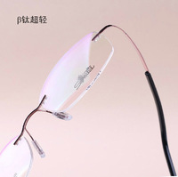 Comfortable ultra-light ! le rimless glasses beta . titanium glasses myopia frame eyeglasses glasses frame