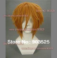 Free Shipping! Beauty cos wig Naruto Fourth Hokage Minato Namikaze Cosplay Wig with wig cap (gift)