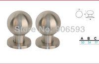 6pcs lot free shipping Modern stainles steel door knob/door handle/pull handle/diameter 50mm door knob