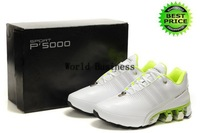 Fast Shipping Wholesale Famous Sneakers P 5000 III 3 Men's Sports Running Shoes (white / lime green)