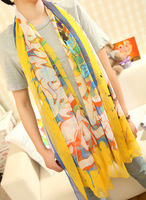 2013 faux silk chiffon summer horse all-match silk scarf air conditioning sun cape design long scarf female