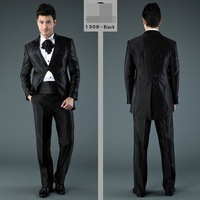 2013 New Arrival Black/Grey  Tuxedo wedding suits  high quality  free shipping